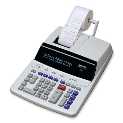 14-Digit Commercial Calculator, 2-Color, 9-3/4
