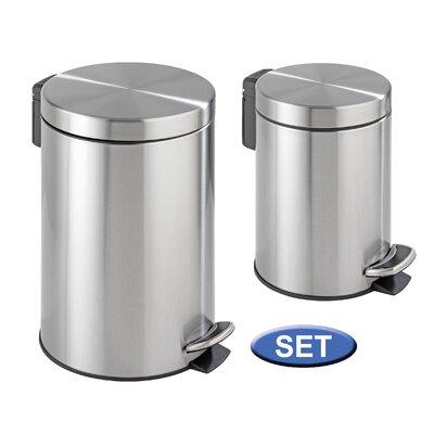 Rubbish bins wayfair uk for Bathroom bin set