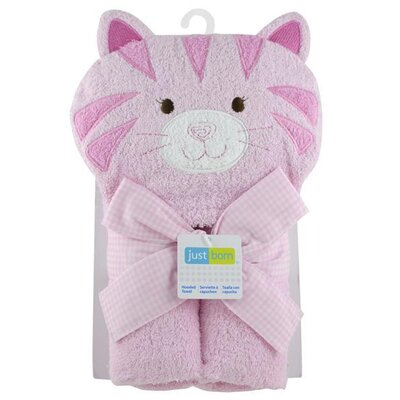 Triboro Just Born Character Kitty Hooded Towel