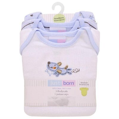 Triboro Just Born 3 Pack Bodysuits