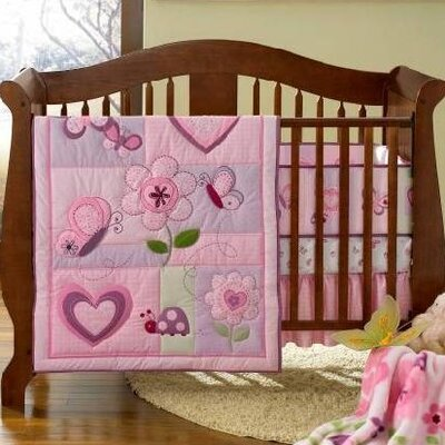 Triboro Just Born 4 Piece Crib Bedding Set
