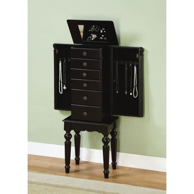 Powell Furniture Antique Black Petite Ebony Jewelry Armoire