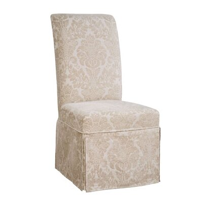 Powell Furniture Classic Seating Center Match Fleur-de-lis Tapestry Dining Chair Skirted Slipcover