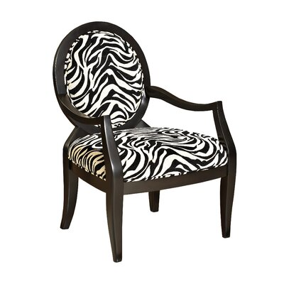 Classic Seating Zebra Fabric Arm Chair