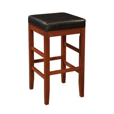 Powell Furniture Square Backless Barstool in Cherry
