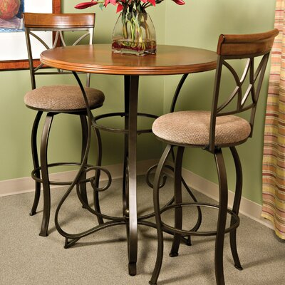 Powell Furniture Cafe Hamilton Pub Table in Matte Pewter and Bronze
