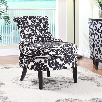 Powell Furniture Floral Print Diana Chenille Slipper Chair