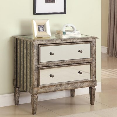 Powell Furniture 2 Drawer Mirrored Console
