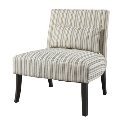 Lila Striped Fabric Slipper Chair