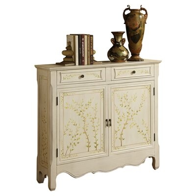 Powell Furniture Hand Painted 2 Door 2 Drawer Console