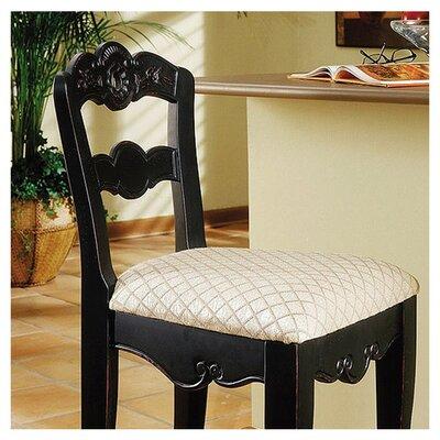 "Powell Furniture Hills Of Provence 24""  Black Counter Stool"
