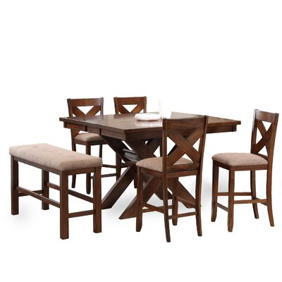 Powell Furniture Kraven 6 Piece Counter Height Dining Set