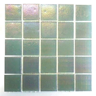 "Diamond Tech Tiles Platinum 12.5"" x 12.5"" Glass Mosaic in Snow Mist"