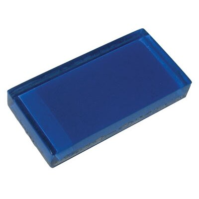 "Diamond Tech Tiles Dimensions Solid 6"" x 3"" Glass Tile in Blue"