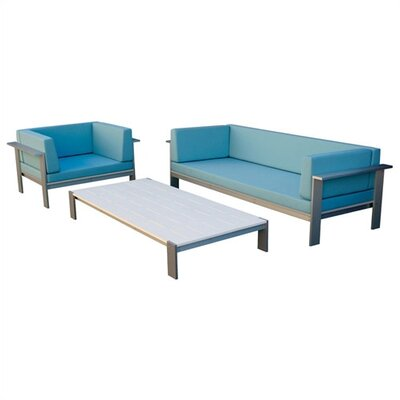 Modern Outdoor Luma Deep Seating Group with Cushions