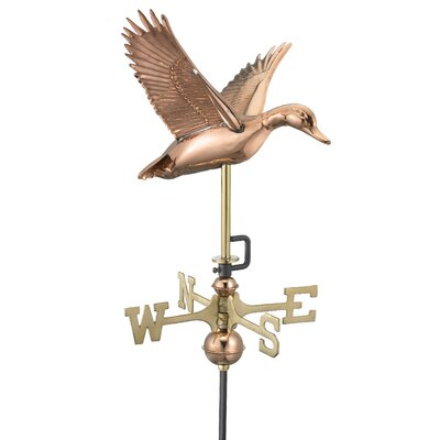 Good Directions Flying Duck Weathervane with Garden Pole