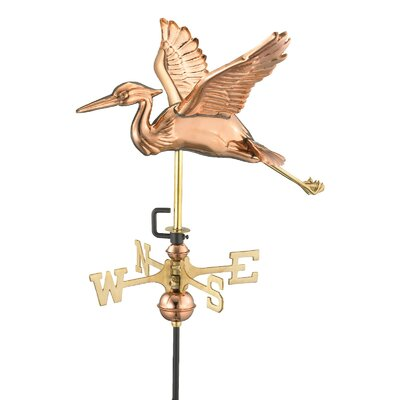 Good Directions Heron Weathervane with Garden Pole