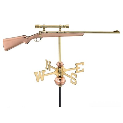 Good Directions Rifle Weathervane with Garden Pole