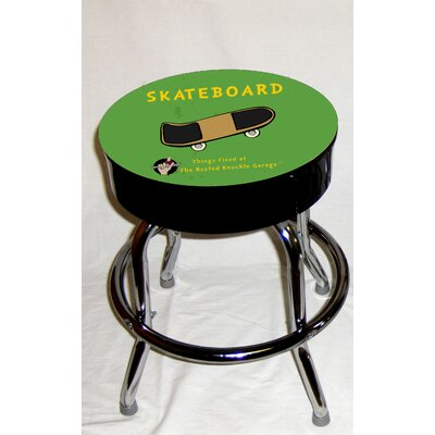 Almost There Busted Knuckle Garage Kid's Swivel Skateboard Stool