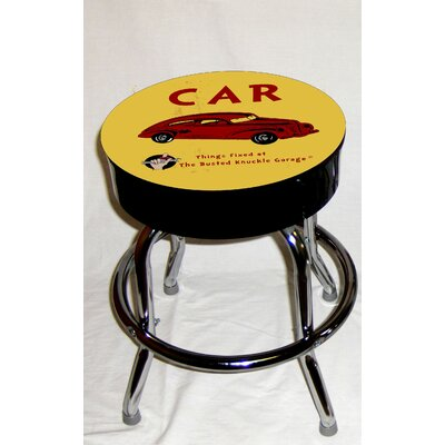 Almost There Busted Knuckle Garage Kid's Swivel Old Automobile Stool