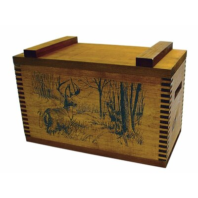 Standard Storage Box With Whitetail Deer Print
