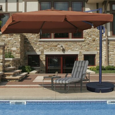 10' Santorini II Cantilever Umbrella with Valance and Base