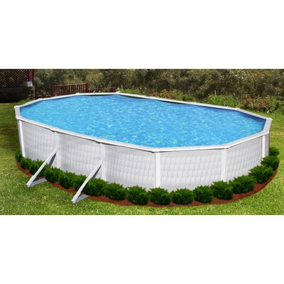 Swim Time Belize Oval 52&quot; Above Ground Pool Package in Highland Gray