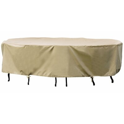 Small Oval Table / Chair Winter Cover in Beige