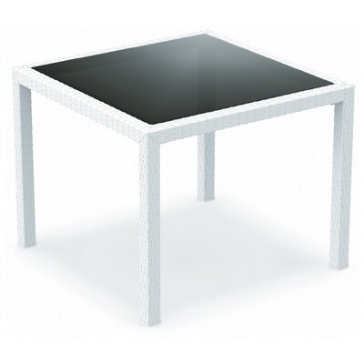 "Compamia 37"" Miami Resin Wickerlook Square Dining Table"