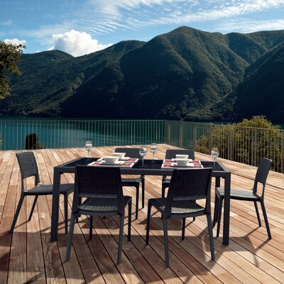 Compamia Wickerlook 7 Piece Dining Set