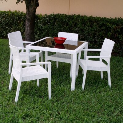 Compamia Wickerlook 5 Piece Dining Set