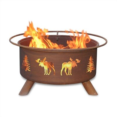 Patina Products Moose and Tree Fire Pit