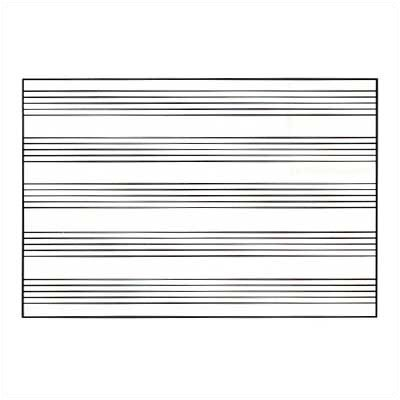 Marsh Graphics Markerboards - Music Staff Lines 4' x 12'