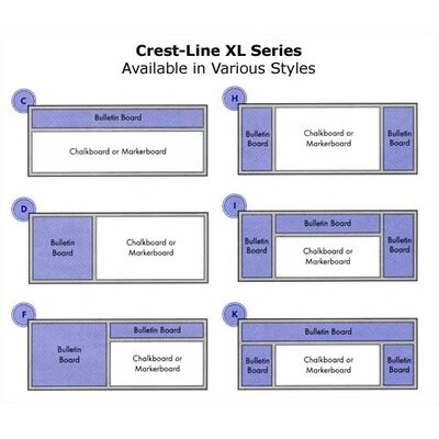 Marsh Crest-Line XL Series - Markerboard - Type I