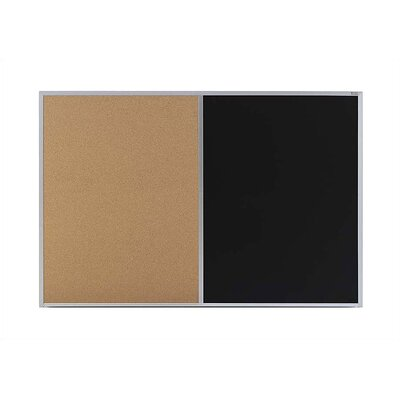 Marsh Cork &amp; Chalkboard Combinations - Bulletin Boards - Aluminum Frame