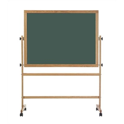 Marsh Freestanding Reversible Boards - Both sides Deluxe Steel-Rite Chalkboard - Oak Frame