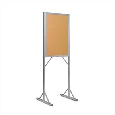 Marsh Double Pedestal Open-Face Bulletin Boards - Aluminum