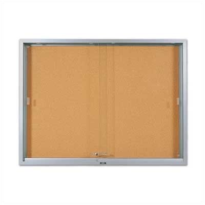 Marsh 'S' Series Sliding Glass Enclosed Bulletin Boards - Aluminum