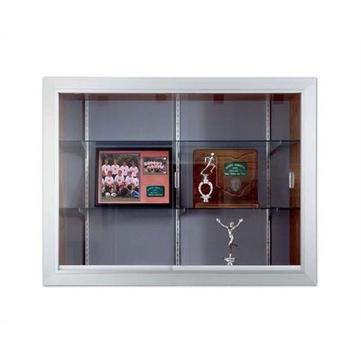 Marsh Series 70 Recessed Hinged Glass Door Trophy Cases - Burlap Fabric