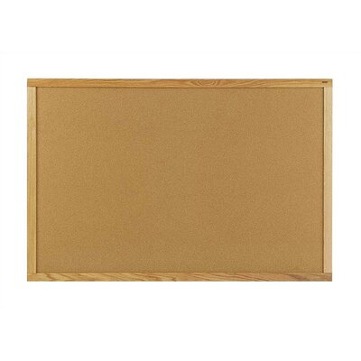 Marsh Peb-Tac Plus Bulletin Boards - Oak Frame