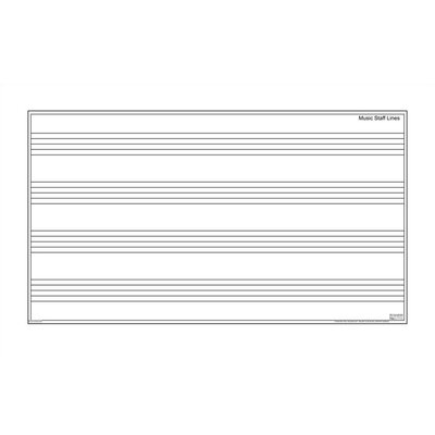 "Marsh Magnetic Dry-Erase Teaching Aides Mat - Music Staff 40""H x 70""W x .1""D"