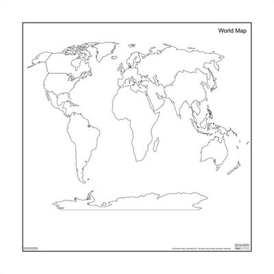 Marsh Magnetic Dry-Erase Teaching Aides Mat - World Map