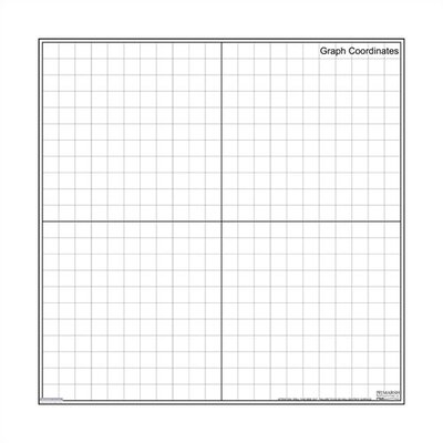 Marsh Magnetic Dry-Erase Teaching Aides Mat - Graph Coordinates