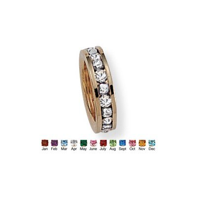 Palm Beach Jewelry Gold Plated Birthstone Baby Ring Charm
