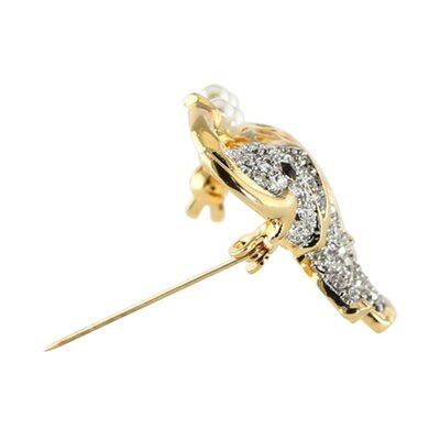 Palm Beach Jewelry Goldtone Crystal Elephant Pin