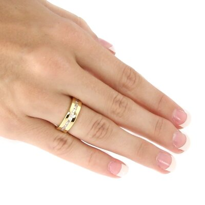 Palm Beach Jewelry Gold Plated Round Cubic Zirconia Eternity Ring