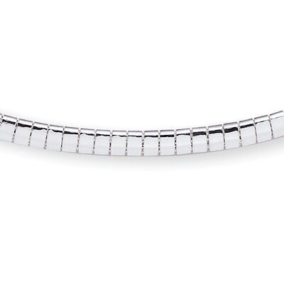 Sterling Silver Omega-Link Necklace