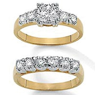 2 Piece Cubic Zirconia Bridal Set
