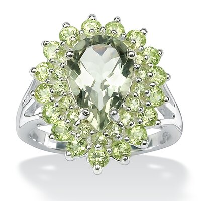 Sterling Silver Green Amethyst and Peridot Ring