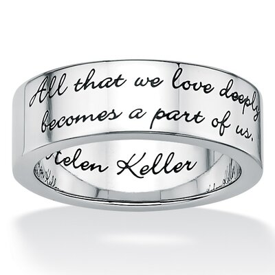 Stainless Steel Inspirational Helen Keller Band